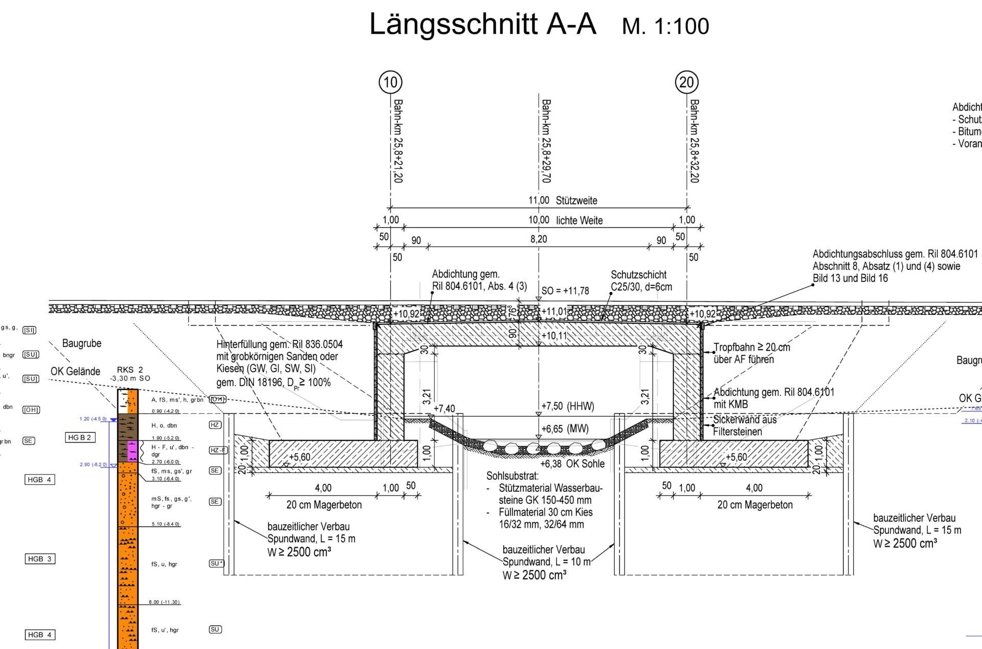 Plan Strecke 6327, Neubau Randowbrücke Km 25,824