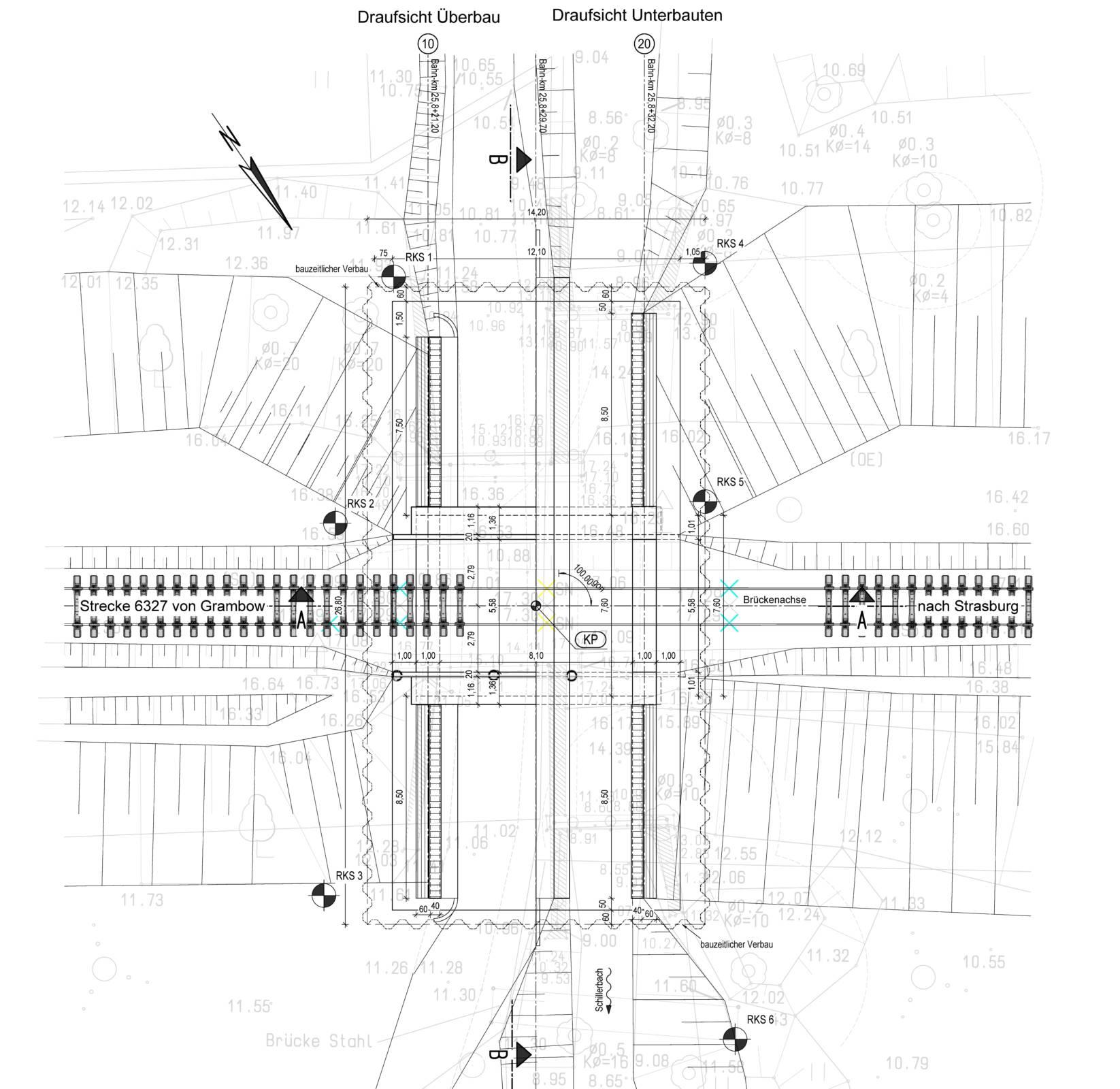 Plan Strecke 6327, Neubau WU Km 21,757